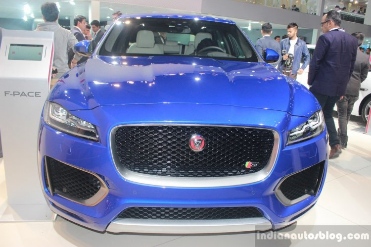 Jaguar F-Pace front at the Auto Expo 2016
