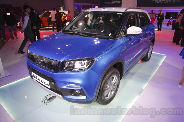 Maruti Vitara Brezza front three quarter at the 2016 Auto Expo