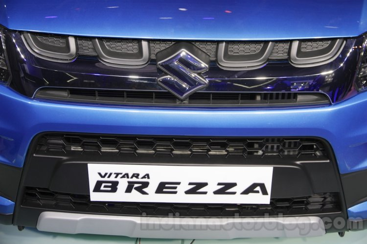 Maruti Vitara Brezza grille at the 2016 Auto Expo