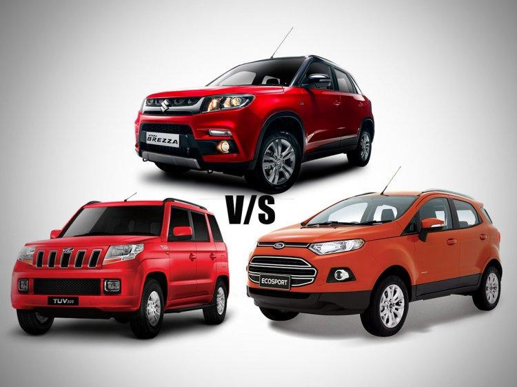 Maruti Vitara Brezza vs Mahindra TUV300 vs Ford EcoSport