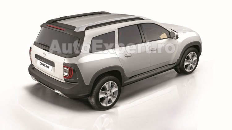 Next-gen Dacia Duster (Renault Duster) rear rendering