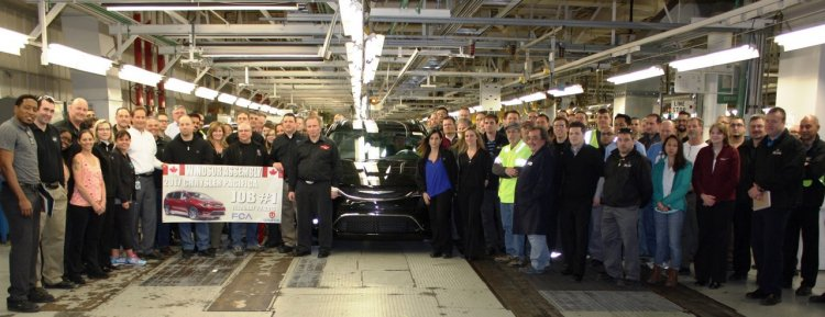2017 Chrysler Pacifica production Windsor Assembly Plant
