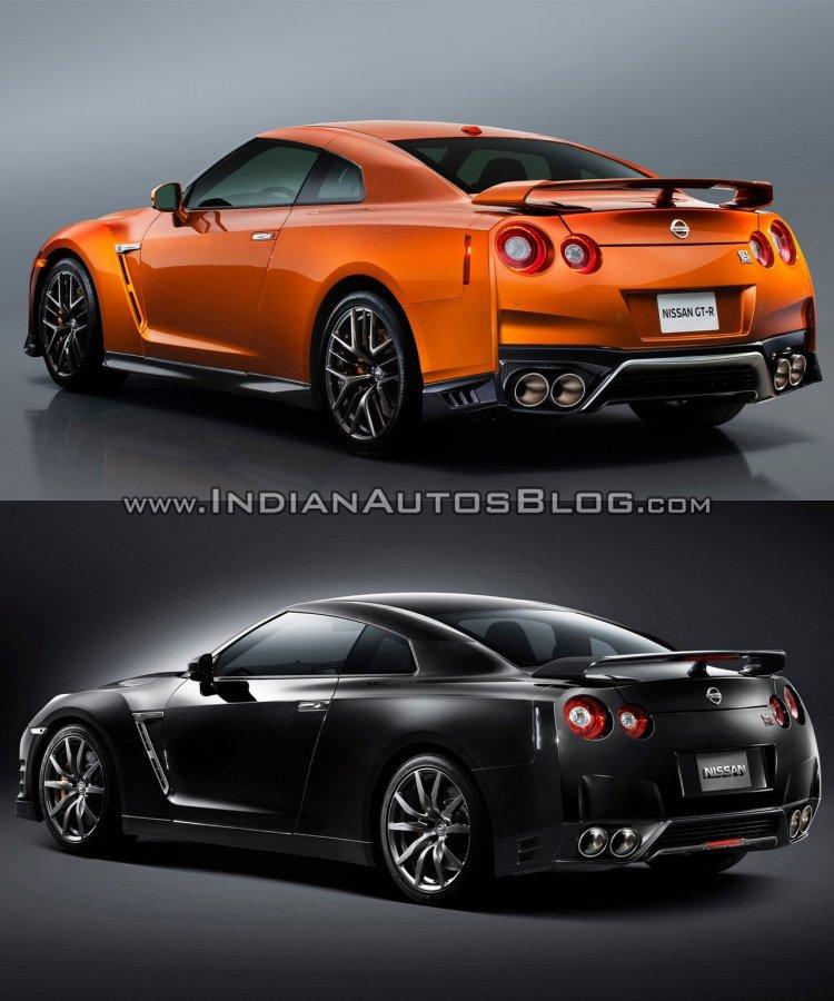 2017 Nissan GT-R vs 2015 Nissan GT-R rear three quarters