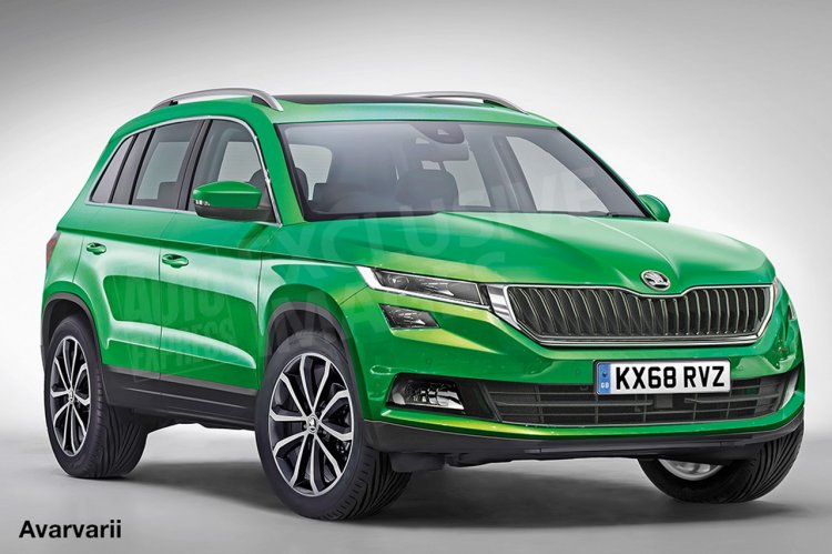 2018 Skoda Yeti rendering front three quarters