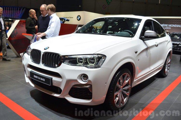 BMW X4 M40i front three quarter at 2016 Geneva Motor Show