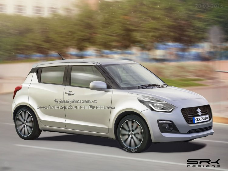 Maruti Swift 2017 (Suzuki Swift 2017) render front