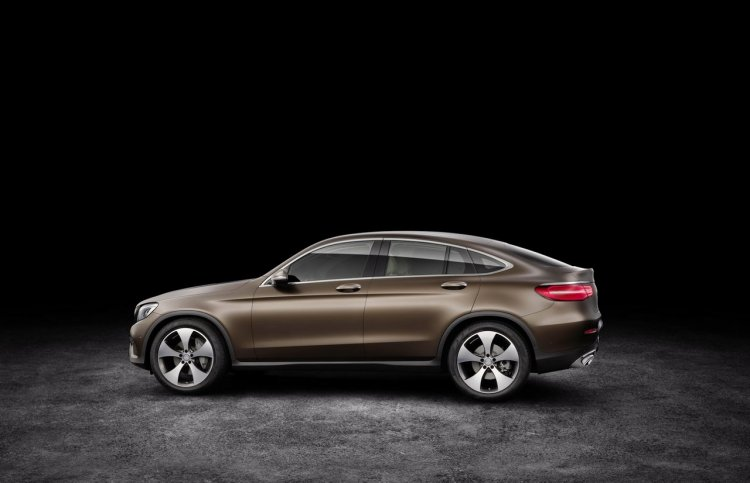 Mercedes GLC Coupe side profile