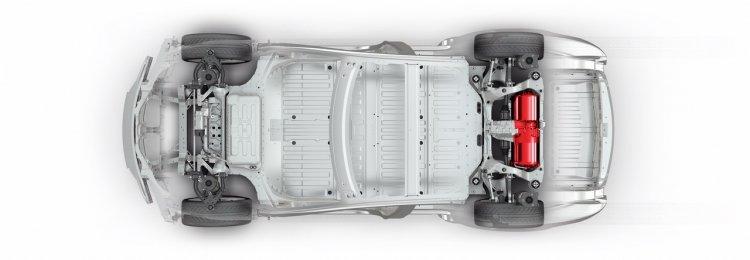 Tesla Model S single motor chassis