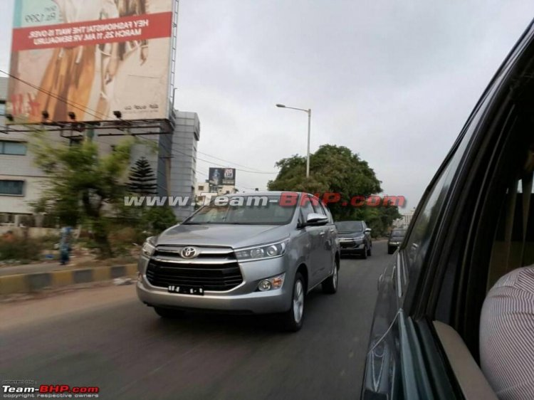 Toyota Innova Crysta front spotted on Indian roads