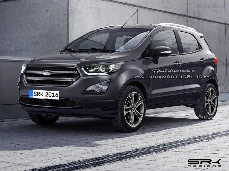 2017 Ford EcoSport (facelift) Rendering