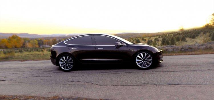Tesla Model 3 official image side profile