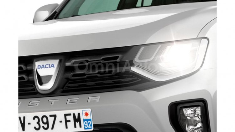 2017 Renault Duster headlamp and grille Rendering