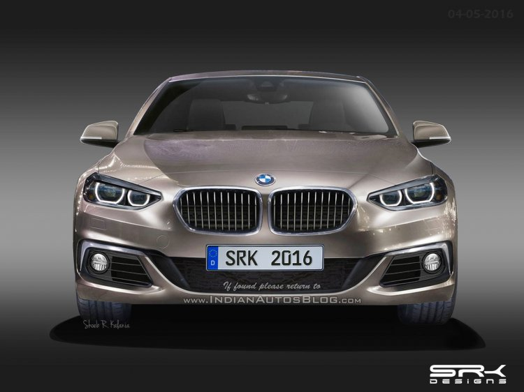 BMW 1 Series Sedan (BMW F52) front rendering based on patent leaks