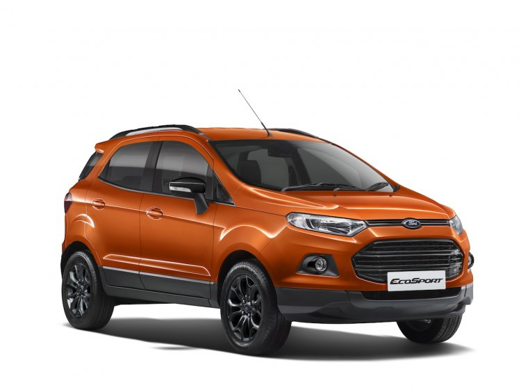 Ford EcoSport Black Edition Mars Red press shot