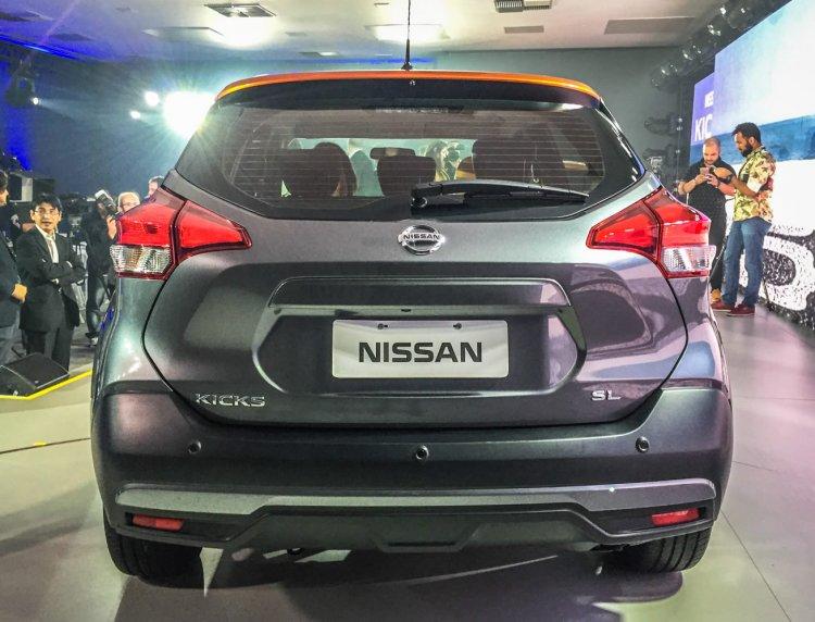 Nissan Kicks compact SUV rear in the flesh