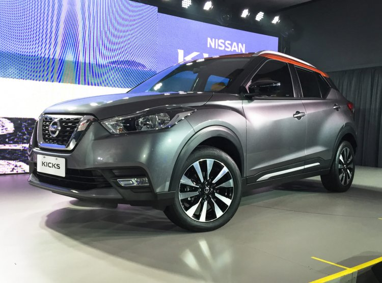 Nissan Kicks front compact SUV in the flesh