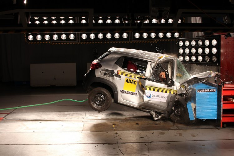 Renault Kwid (I) Global NCAP crash test