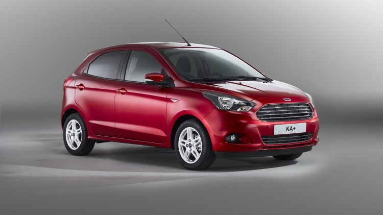 India-made Ford Ka+ (Ford Figo) front three quarter unveiled for European markets