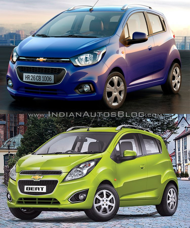 Next-gen Chevrolet Beat vs current Chevrolet Beat - Old vs New