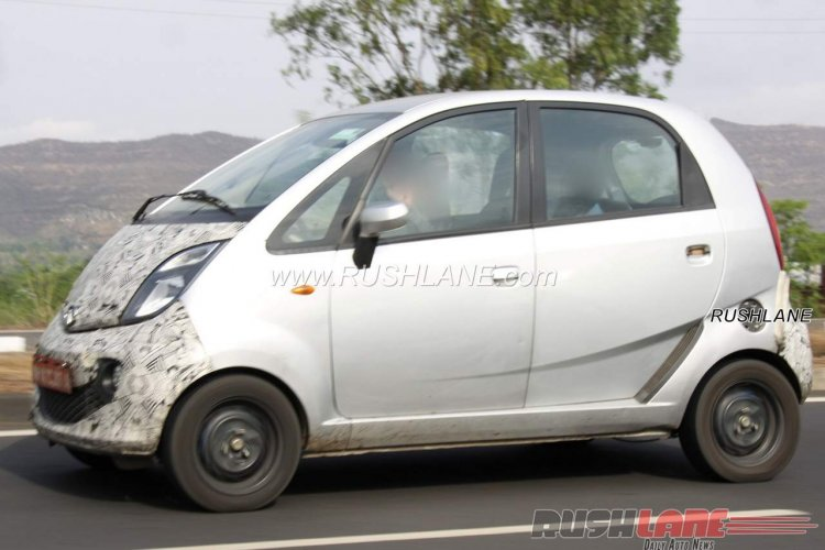 Purported electric Tata Nano side spied testing in Maharashtra