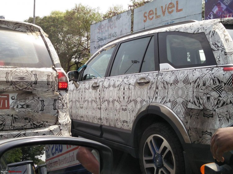 Tata Hexa rear spied ahead of nearing launch