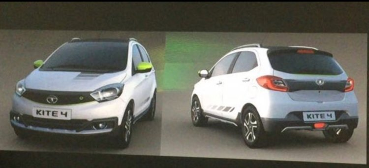 Tata Tiago Aktiv shown in white shades