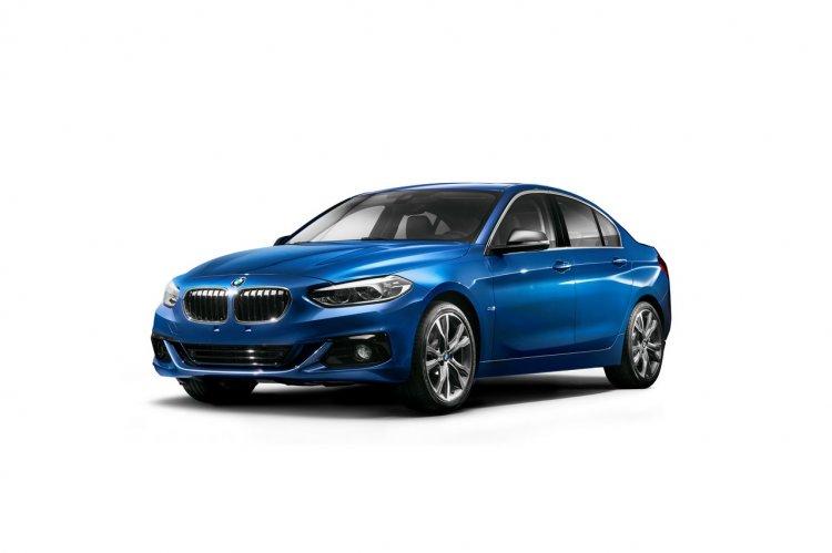 BMW 1 Series Sedan front three quarters