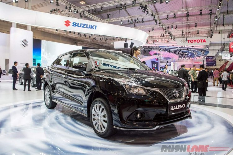 India-made Suzuki Baleno with bodykit front three quarter debuts at GIIAS