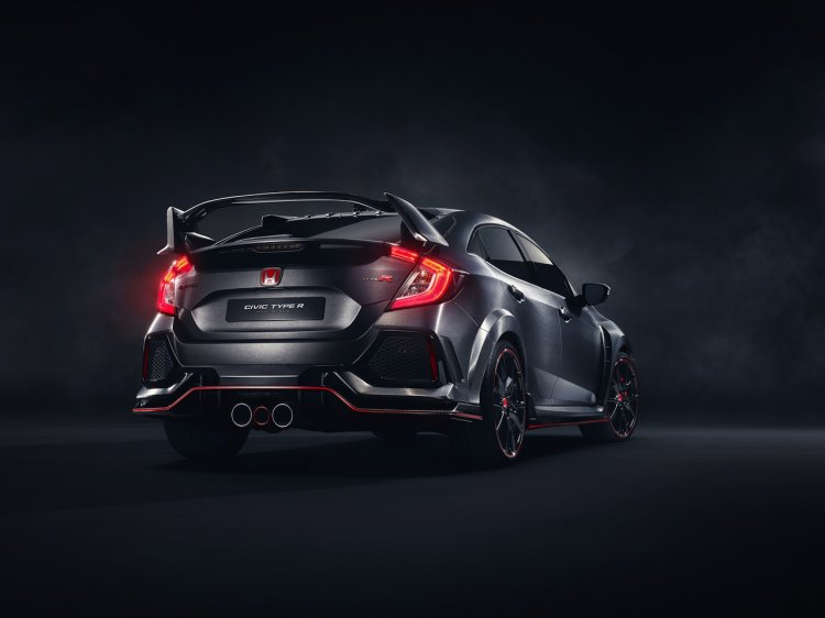 2017 Honda Civic Type R prototype rear quarter press shots