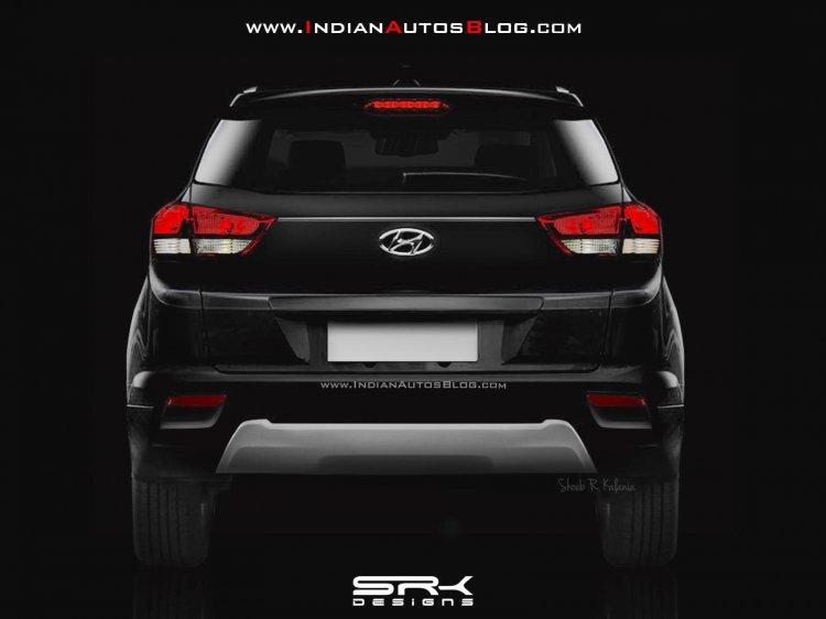 Hyundai Creta facelift rear