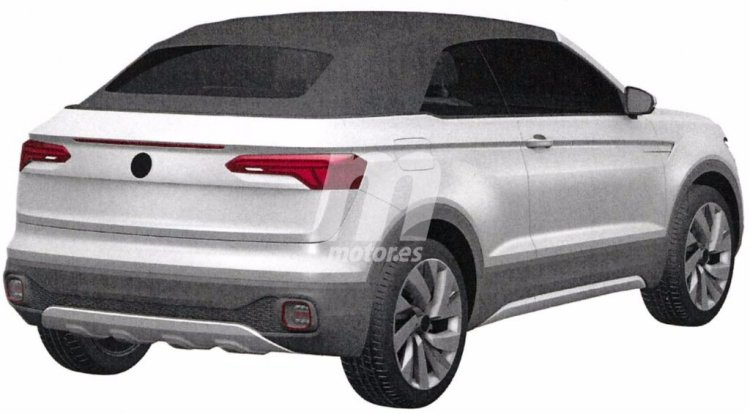 VW T-Cross Breeze rear three quarter patent image