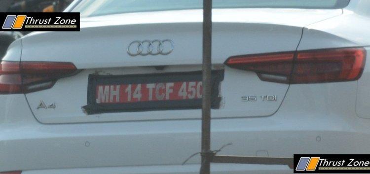 Audi A4 35 TDI diesel rear spied