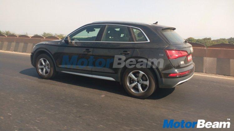 2017 Audi Q5 rear three quarter spied undisguised in India