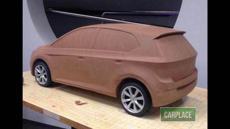 2017 VW Polo rear quarter alleged clay model