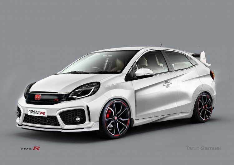 Honda Amaze Type R front three quarter Rendering
