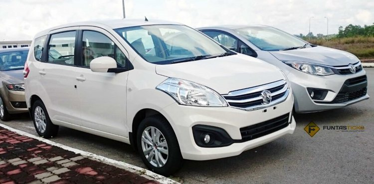 Proton Ertiga front three quarter spied ahead of launch