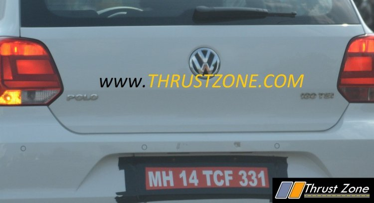 VW Polo 180 TSI badge spied testing in India