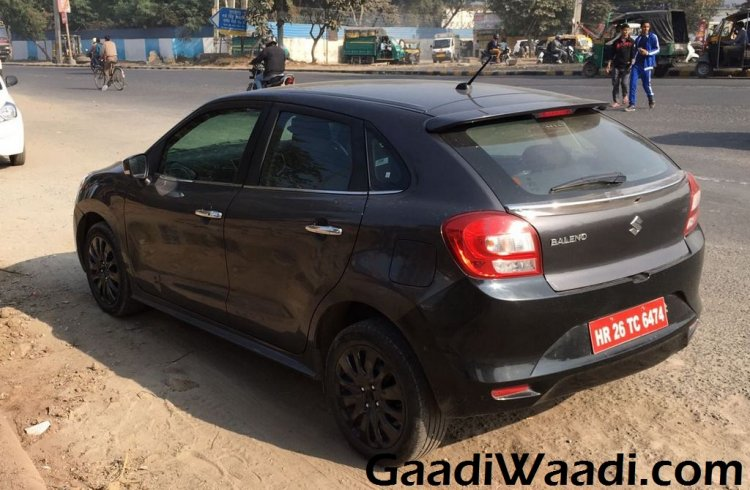 Maruti Baleno RS spied with black rims