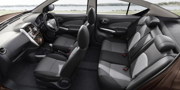 2017 Nissan Sunny comes with black interior