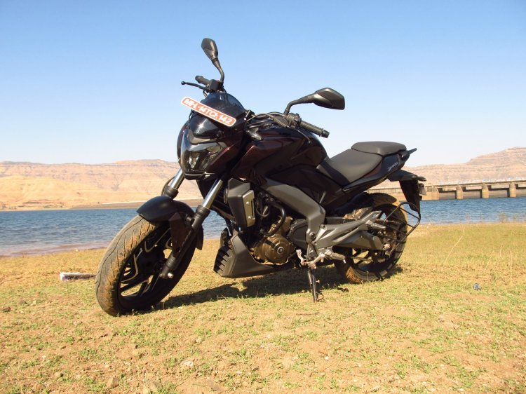 Bajaj Dominar 400 Twilight Plum front three quarter