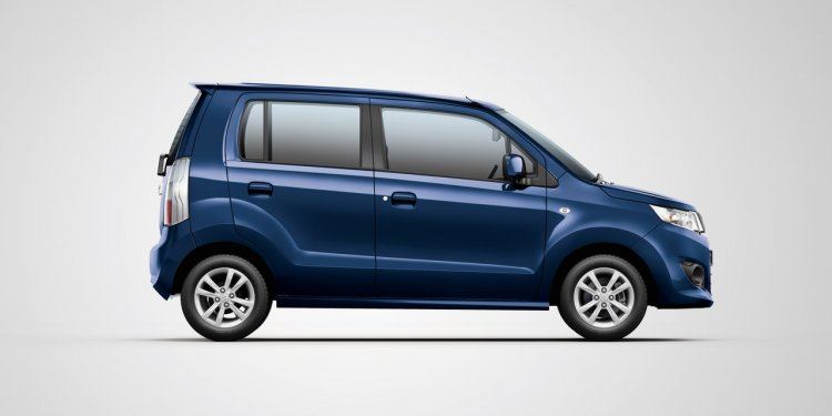 Maruti WagonR VXi+ midnight blue side