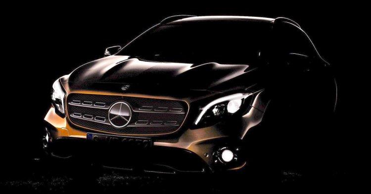 Mercedes GLA facelift teaser