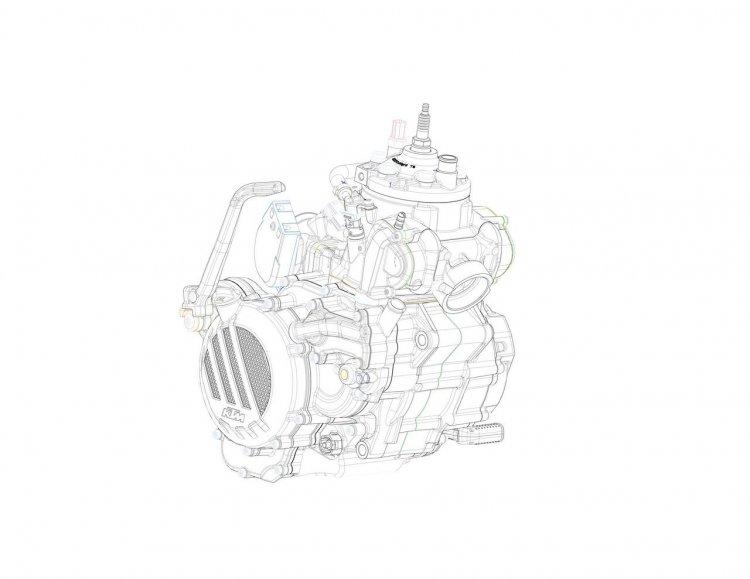 KTM EXC 2018 engine