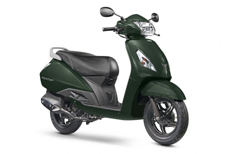 TVS Jupiter Jade Green