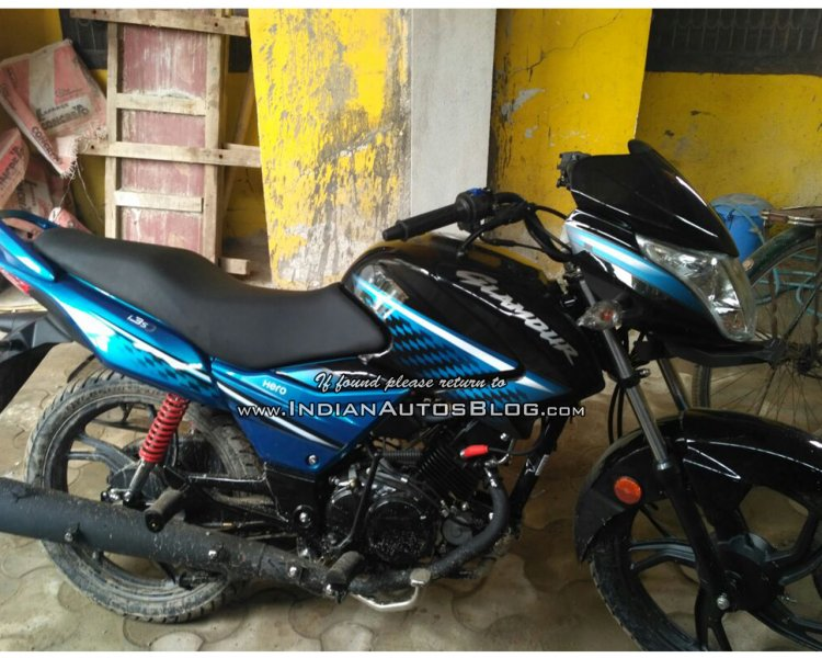 All new Hero Glamour spied in India side
