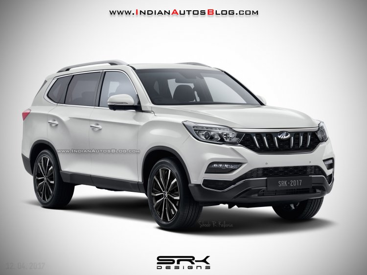 Mahindra XUV700 (2017 Ssangyong Rexton) front quarter IAB Rendering
