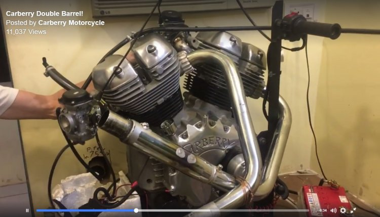 Royal Enfield Carberry Motorcycle engine