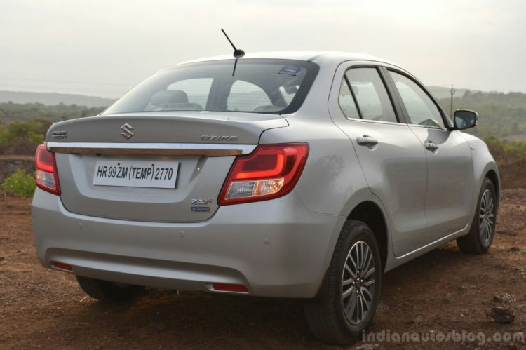 2017 Maruti Dzire rear quarter First Drive Review