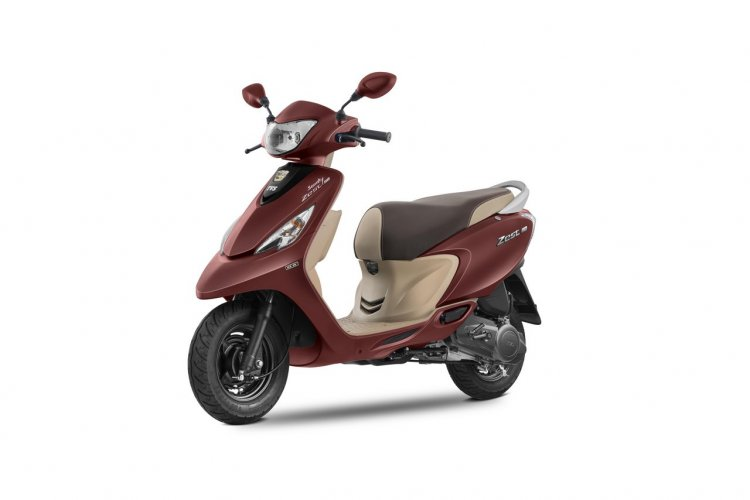 2017 TVS Scooty Zest 110 Matte Red