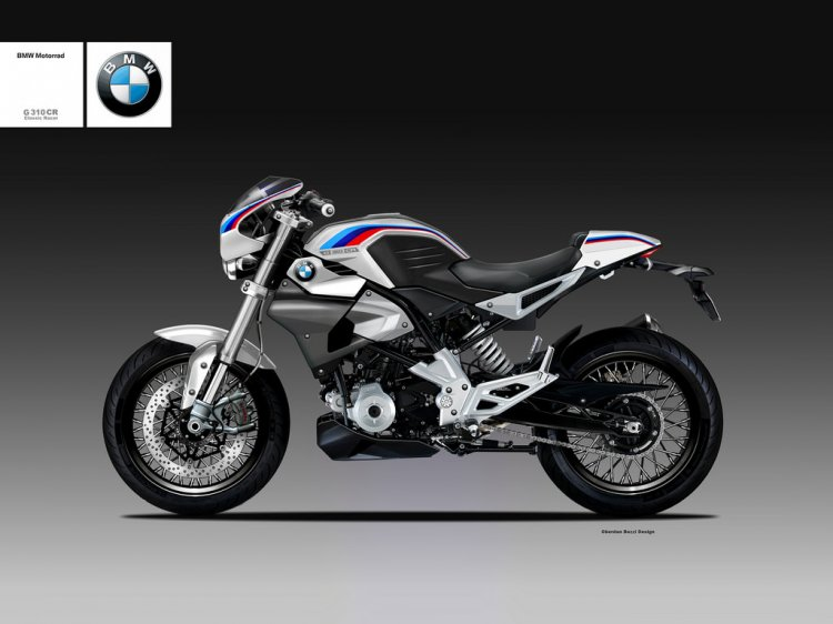 BMW G310R rendered as BMW G310 Classic Racer Concept